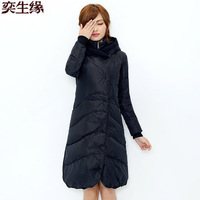 2014 Hot Thickening Warm Winter Down jacket Women Slim Outerwear Coat Parka Long Hooded Luxury White Duck Plus Size 4XXXXL Free