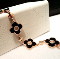 european brand elegant four leaf clover bracelets bangles for women gold plated jewelry wholesale gifts