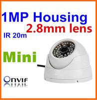 Big promotion!Mini CCTV HD 1Megapixel 2.8mm Lens indoor IR white case housing IP Camera ONVIF POE Optional Dome/Support Dahua