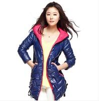 New Winter jacket Woman's Outerwear Slim Hooded Down Jacket Woman Winter Coat Light free shipping
