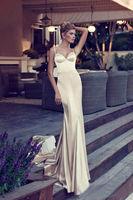 Spaghetti straps sexy backless wedding dress custom size