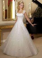 2014 new elegant white/ivory wedding dress custom size 6-8-10-12-14-16