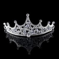 2014 New Rhinestone Crystal Wave Tiara Crown Wedding Hair Accessories Bridal Hair Jewelry Wedding Accessories HG058