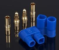 200PCS=100PAIRS EC3 EC3.0 GOLDEN plug Female Male Bullet Connector with BLUE housing For RC ESC LIPO Battery Motor
