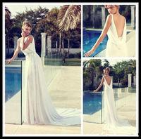 Sexy white/ivory backless Wedding Dresses custom size