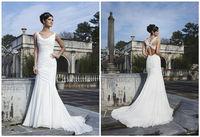 Charming chiffon backless wedding dress custom size 6-8-10-12-14-16