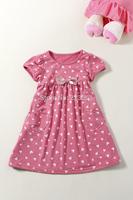 2014 New Arrival Summer  Girl's Dress Cotton Children's Vest Dresses KIds Sleeveless Dress 6-12Years Spot
