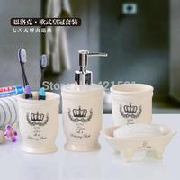 Europe Style White Bathroom Set Four Piece Ceramic Bathroom Accessories Bathroom Supplies Kit