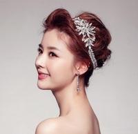 Luxury Rhinestone Bridal Head Chain Hair Jewelry Crystal Wedding Hair Accessories Bride Crown Headpiece Tiara Noiva WIGO0337