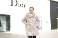2014 90% Duck Down Slim Fit Women Long Duck Down Coat With Belt Rabbit Fur Collar Brand Women Overcoat   Coat Duck down Women