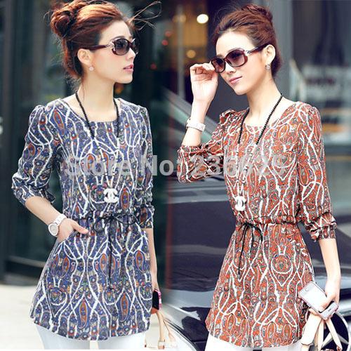 Casual Womens Ladies Next Gorgeous Paisley Print Tunic Top Blouse Shirt Dress New Fashion(China (Mainland))