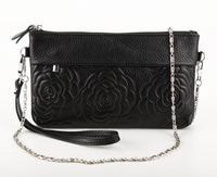 Genuine Leather Women Handbag Shoulder Bag Messenger Bag Women Clutch Small Chain Bag With Rose Embossed HB-162