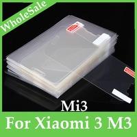 3pcs/lot Anti glare clear Screen Protector Guard Film for Xiaomi 3 M3 Mi3 FM-SO-mi3