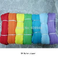Wholesale 5 # nylon zipper code equipment zip 130 / bundle yards (including 100 zipper head) free shipping