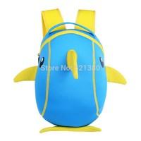 YG8DIAN Children Toddler Kid's Neoprene School Bag Backpack, Dolphin (Size: 8.66x5.12x13.39inch)