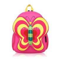 YG8DIAN Children Toddler Kid's Neoprene School Bag Backpack, Butterfly (Size: 11.41x4.33x13.39inch)