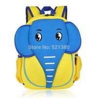 YG8DIAN Children Toddler Kid's Neoprene School Bag Backpack, Elephant (Size: 9.84x5.51x13.39inch)