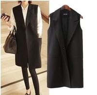 2014 New fall fashion ladies  Korean Plus Size Sleeveless  vest jacket  Woman Outwear Coat