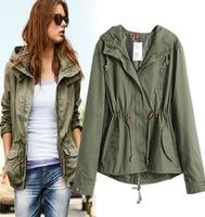 New Women's jackets Short Slim cotton coat hooded padded jacket coats