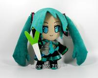 2014 Hatsune Miku Plush Toy 15CM Cute Soft Stuffed Hatsune Miku Plush  Doll  High Quality  Best Gift  Free Shipping