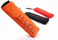 Free shipping Three-folding Umbrella Pockets Clear UV Sun Umbrella Pencil Umbrella Gift Umbrella Ms. ultralight U-06