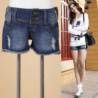2014 summer tide leisure female trousers do old worn out hot pants joker denim shorts #R0126