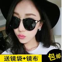 Europe and the United States retro round sunglasses trendsetter star Sunglasses female 2014 new sunglasses