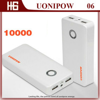 UONIPOW UP06  External Double 2 USB Port Power Bank  Real Capacity 10000mAH ,Solar Energy Power Supply Battery Charger