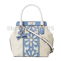 FREE SHIPPING The new spring and summer 2014 G home handbag shoulder bump color rivet flowers inclined shoulder bag