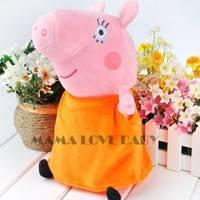 Free shipping 30cm/11.7inch peppa pig Mama toys BABIES Plush Doll Kids Teddy Good Gift 20013