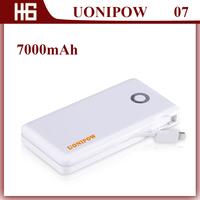 Original UONIPOW UP07 External Double 2 USB Port Power Bank  Real Capacity 7000mAH ,Solar Energy Rechargable Power Battery