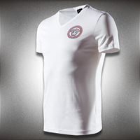 spring and summer] mercerized cotton short-sleeved T-shirt Slim A623P105 2 colors - white t-shirt men mens t shirts fashion 2014