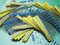 CSCASES 75 values 750pcs 1 ohm - 10M ohm 1/4W Metal Film Resistors Assortment Kit