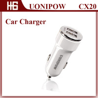 UONIPOW 20,2014 Best Selling Mirco Double 2 USB Port Car Charger for Samsung Galaxy S2 S3 S4 Smart Mobile Phone and Tablet PC