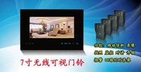 7.0 inch 2.4GHz wireless video door phone with Motion detection , infrared intercom system photo shoot function