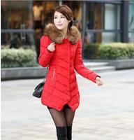 Women Winter Coats 2014 Plus Size Down Jacket Long Parka Winter Coat Women DJ-3