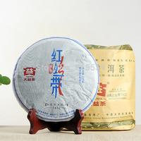 [GRANDNESS] Classic Red Ribbon 7432 * 2014 Menghai TAETEA DAYI 1401 Puer Pu Er Puerh Raw Shen health tea 357g Genuine Certified