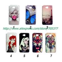 Painting Dream tiger eiffel Tattoo Ariel Little Mermaid Monroe hard cover case for LG G Pro Lite D686 D685