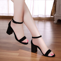 Kcal genuine leather female sandals high thick heel open toe sandals women's fashion female shoes