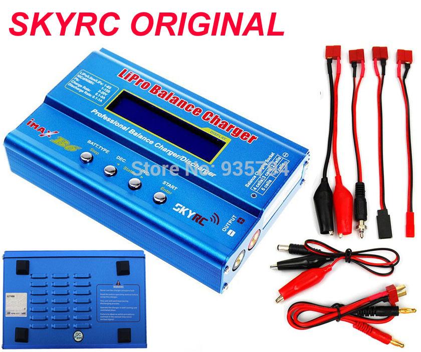 Free shipping SKYRC Original IMAX B6 RC Lipo NiMh Battery Digital Balance Charger with T Plug or Tamiya Connector Calbe(China (Mainland))