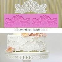 hot sale  Fondant Cake Instant Lace Silicone Mold Sugar Paste Sugar Art Tools Cake Decoration- Free Shipping