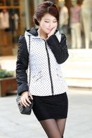 New Fashion Hooded Little Collar Women Winter Coats 2014 Plus Size Down Padded Jacket  DJ-5