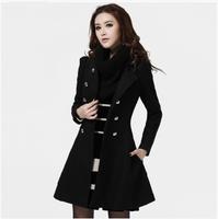New 2014 casacos femininos women coat Women's Slim Double-breasted Woolen Coat Autumn Winter wool coat winter coat women  C1913