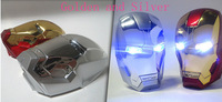 Super Cool ! 8000Mah iron man power bank external battery Pack with USB Cable + Retail box 100set/lot Free UPS shipping