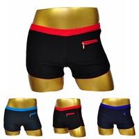 2014 swimming trunks men European style nylon plus size boxer swim trunks swimwear free shipping