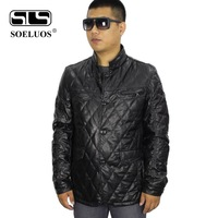Famous brand men's spring leather jacket 2014 men genuine motorcycle jackets mens leather coat top quality Free Shipping 289-1