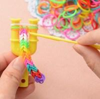5pcs/lot New 2014 Fashion Simple rubber band loom kit for DIY charm bracelets weaving frame bands loom tool handmade jewelry