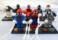 8 Sets Mini Figures Cartoon Super Hero Spider-Man Spider Man Building Toys New
