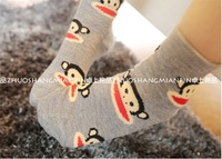 Free Shipping 5Pairs/LOT Children Cute Cartoon Animal 100%Cotton Short Socks  Infant 3-6years Boy Girl  Kids Socks Multicolor