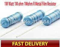 CSCASES  1W Watt 1M ohm 1Mohm R Metal Film Resistor 1W 1% 100PCS, Sample bag,free shiping Factory directly